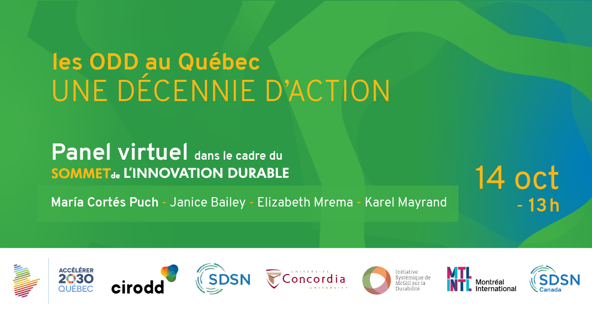 <p>Retour sur le panel «les ODD au Québec: une décennie d'action»</p>